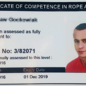 Certificate of Competence in Rope Access