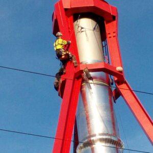 Prace wysokościowe na kominach