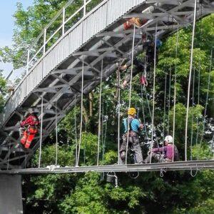 Most - prace wysokościowe