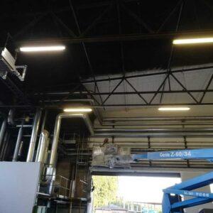 Malowanie sufitu hali przemysłowej
