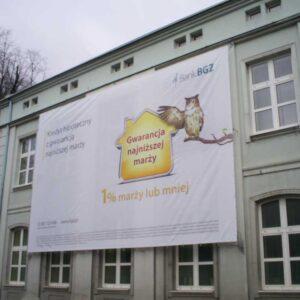 Baner reklamowy na elewacji - Bank BGŻ