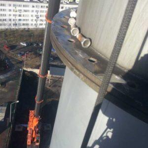 Montaż kominów przemysłowych