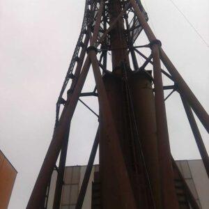 Prace na kominach przemysłowych